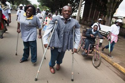 African persons with disabilities at march