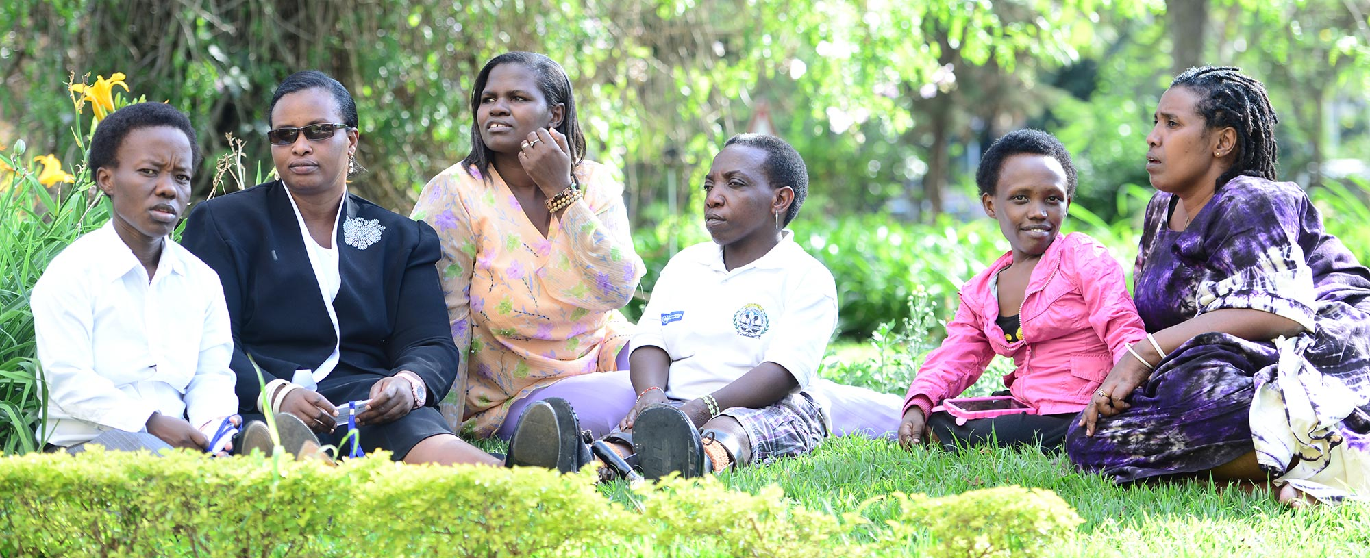 Group of Rwandan women with disabilities talking